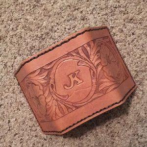 """K"" Handmade Leather Wallet"